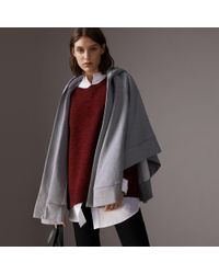 Burberry - Embroidered Jersey Hooded Cape - Lyst