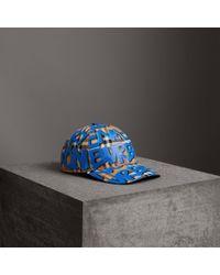 Burberry | Graffiti Print Vintage Check Baseball Cap | Lyst