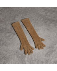 Burberry - Chenille Longline Gloves - Lyst