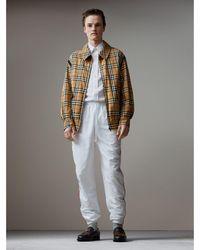 Burberry - Vintage Check Gabardine Harrington Jacket - Lyst