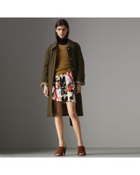 Burberry - Quilted Tropical Gabardine Car Coat - Lyst