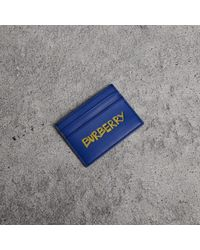 Burberry - Graffiti Print Leather Card Case - Lyst