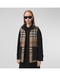 Burberry Check Recycled Polyester Puffer Gilet - Multicolour