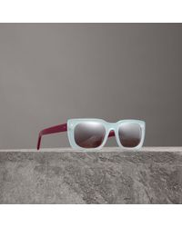 Burberry - Square Frame Sunglasses - Lyst