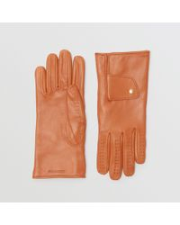 Burberry - Cashmere-lined Lambskin Gloves - Lyst