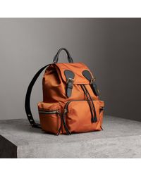 Burberry - The Medium Rucksack In Technical Nylon And Leather - Lyst