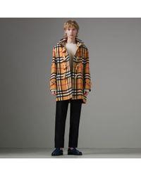 Burberry - Gosha X Check Oversized Duffle Coat - Lyst
