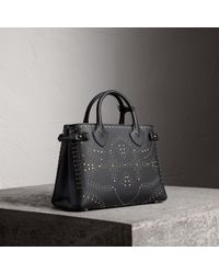 Burberry - The Medium Banner In Riveted Leather - Lyst