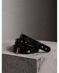 Glossy Leather Belt - Black Burberry LwS6Qh1wdT