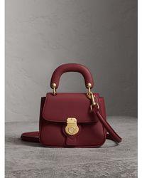 Burberry - The Mini Dk88 Top Handle Bag In Antique Red | - Lyst