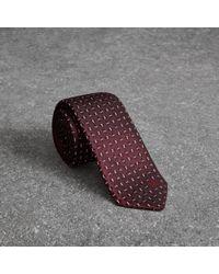 Burberry - Slim Cut Geometric Silk Jacquard Tie - Lyst