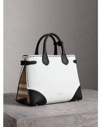 Burberry - The Medium Banner In Brogue Detail Leather - Lyst