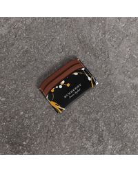 Burberry - Splash Trench Leather Card Case - Lyst