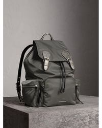 Burberry - The Medium Rucksack In Technical Nylon And Leather - Women | - Lyst
