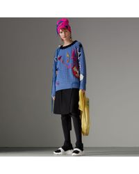 Burberry - Embellished Wool Lace Jumper - Lyst
