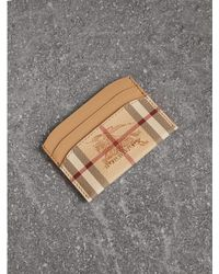 Burberry | Haymarket Check And Leather Card Case | Lyst