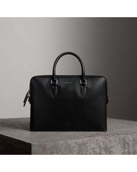 Burberry - The Slim Barrow In London Leather Black - Lyst