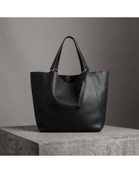 Burberry - Large Bonded Leather Tote - Lyst
