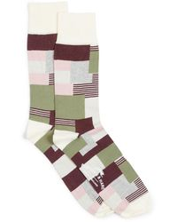 Burrows and Hare Patchwork Socks - Multicolour