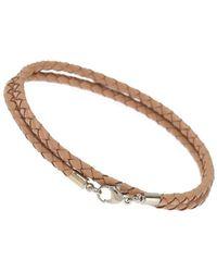 Burton - Brown Leather Look Bracelet - Lyst