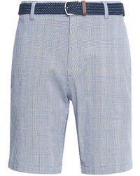 Burton Blue Belted Seersucker Shorts