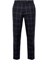 Burton Blue Skinny Fit Tartan Check Chinos