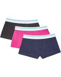 Burton 3 Pack Pink And Plain Hipster Trousers