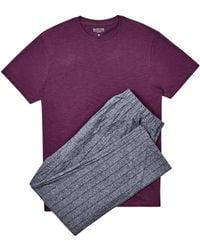 Burton Burgundy Slub Top With Grindle Trousers Set - Purple