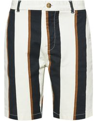 Burton Ecru Fashion Stripe Shorts With Organic Cotton - Multicolour
