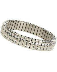 Burton - Grey Stainless Steel Bracelet - Lyst