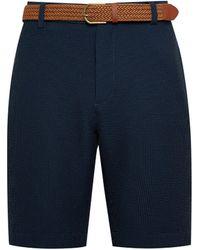 Burton Big & Tall Navy Gingham Shorts - Blue