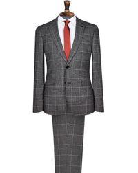 Burton Grey Prince Of Wales Check Slim Fit Suit Jacket - Gray