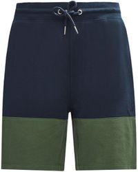 Burton Green Colour Block Pique Shorts