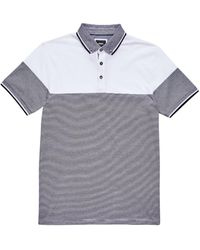 Burton Navy And White Cut And Sew Polo Shirt - Blue