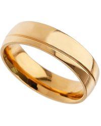 Burton - Gold Slice Ring - Lyst