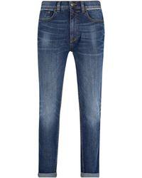 Burton Mid Blue Selvedge Trim Carter Tapered Fit Jeans