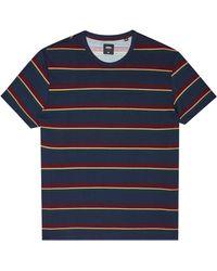 Burton - Navy Pique Horizontal Stripe T-shirt - Lyst