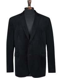 Burton - Big & Tall Black Notch Velvet Blazer - Lyst