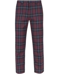 Burton Big & Tall Red Skinny Tartan Check Trousers