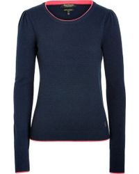 Juicy Couture Cashmere Puff Shoulder Pullover - Lyst