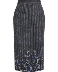 Preen Joselyn Floral-print Cotton-blend Pencil Skirt - Lyst