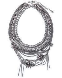 Zara  Braided Chain Necklace - Lyst