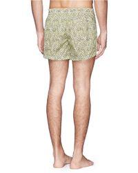 Danward Geometric Lattice Print Taffeta Swim Shorts - Lyst