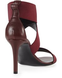 Balenciaga Elastic Crisscross Sandal Prune - Lyst