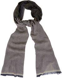 Etro Silk-wool Herringbone Scarf - Lyst