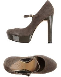 Jessica Simpson Gray Pump - Lyst