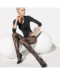 Wolford Black Evelyn Tights - Lyst