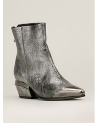 Vic Matie' Metal Toe Ankle Boots - Lyst