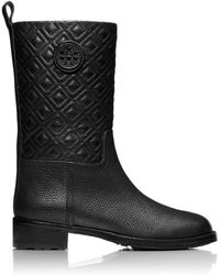 Tory Burch Marion Quilted Bootie - Black