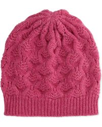 Brora - Cashmere Lace-Knit Beanie - Lyst